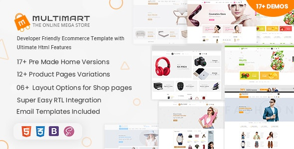 Multimart - Bootstrap 4 & 5 eCommerce HTML Template - Retail Site Templates
