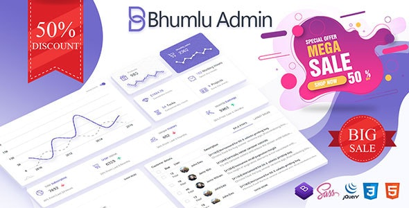 Bhumlu Bootstrap Admin Template