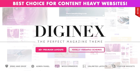 Diginex - Magazine, Blog, News and Viral WordPress Theme - Blog / Magazine WordPress