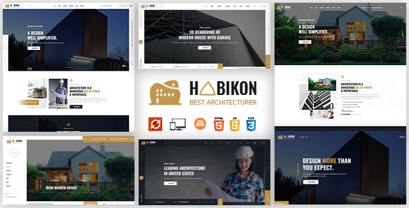 Habikon - Architecture & Interior HTML Template - Business Corporate