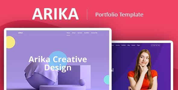 Arika – Bootstrap 4 Portfolio Template - Personal Site Templates