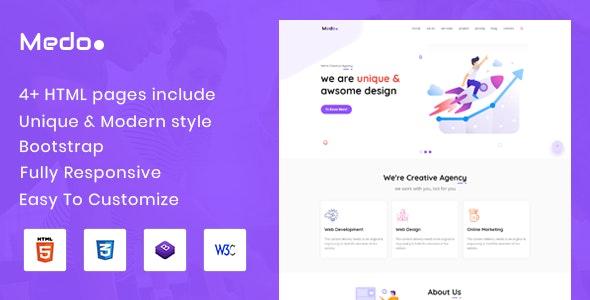 Medo - Creative Digital Agency & Multipurpose - Creative Site Templates