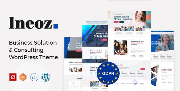 Ineoz - Business Consulting WordPress Theme - Business Corporate