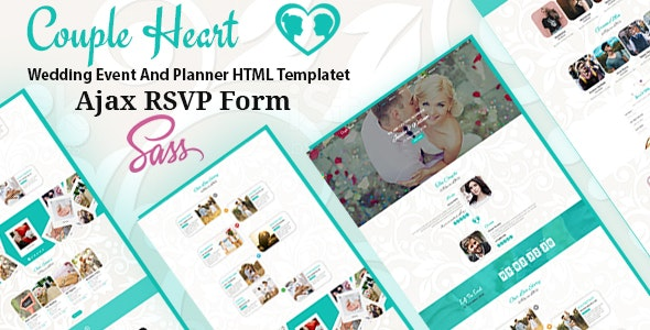 Couple Heart - Wedding Event And Planner HTML Template - Wedding Site Templates