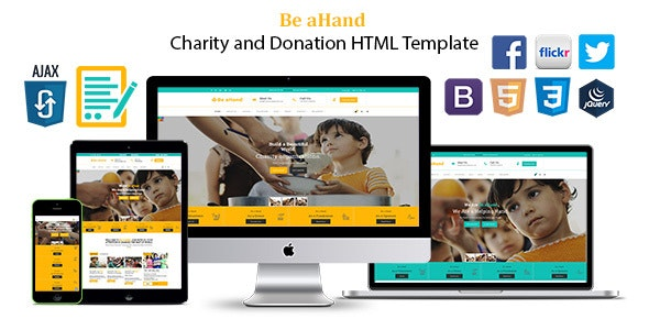 Be aHand Charity and Donation HTML Template - Charity Nonprofit