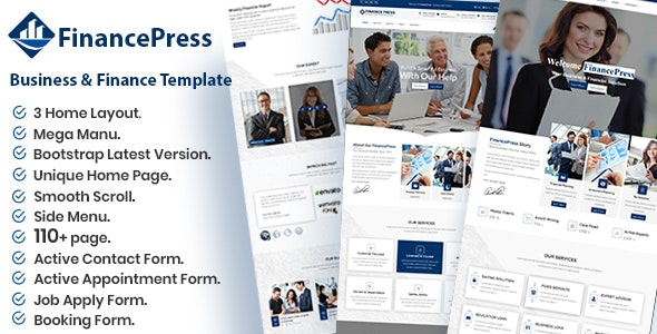 FinancePress - Business and Finance HTML Template - Business Corporate
