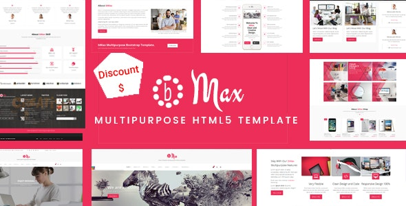 bMax Multipurpose HTML Template - Corporate Site Templates