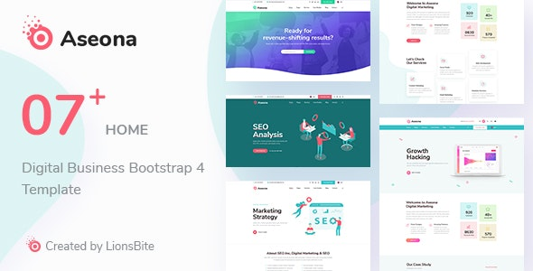 Aseona - Digital Marketing Agency Bootstrap 4 Template - Marketing Corporate