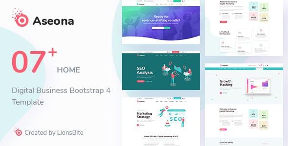 Aseona - Multipurpose Bootstrap 4 Template