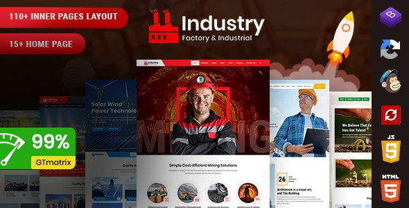 Industry - Factory & Industrial HTML Template - Corporate Site Templates