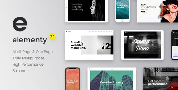 Elementy - Multipurpose One & Multi Page Template by