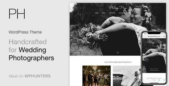 PH - Wedding Photography Portfolio WordPress Theme - Photography Creative