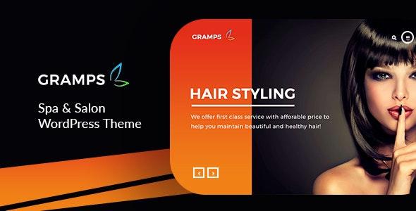 Gramps -   Spa & Salon WordPress Theme - Fashion Retail