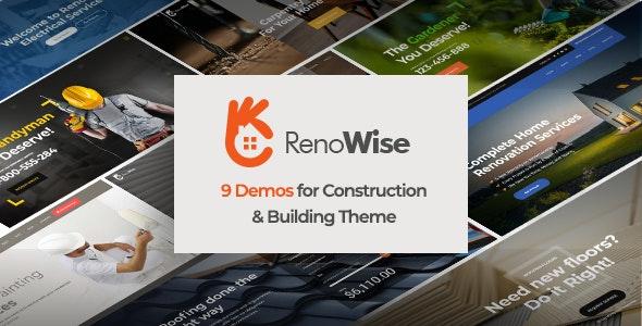RenoWise - Construction & Building Theme - Business Corporate