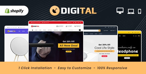 Digital - Electronics MultiPurpose Shopify Theme