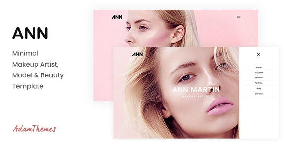 ANN — Minimal Makeup Artist, Model & Beauty Template - Health & Beauty Retail