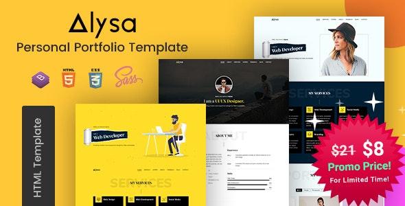 Alysa - Personal Portfolio HTML Templates - Portfolio Creative