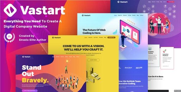 Vastart - Digital Company & Startup WordPress Theme - Business Corporate