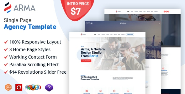 Arma - Creative Agency Multi-Purpose Template - Business Corporate