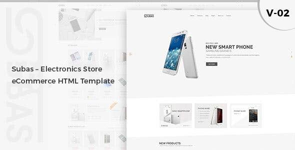 Subas – Electronics Store eCommerce HTML Template - Electronics Technology