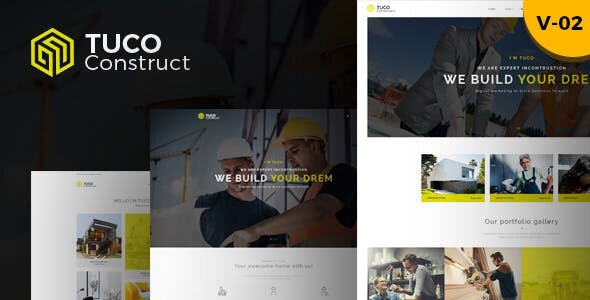 Tuco - Construction & Building HTML Template - Business Corporate