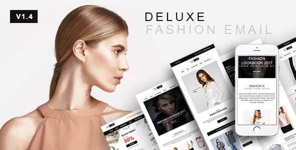 Deluxe - Fashion & Online Store Email Newsletter Template 10 Layout