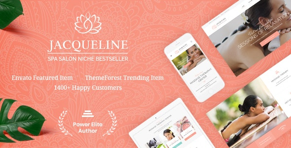 Jacqueline | Spa & Massage Salon Beauty WordPress Theme + Elementor - Health & Beauty Retail