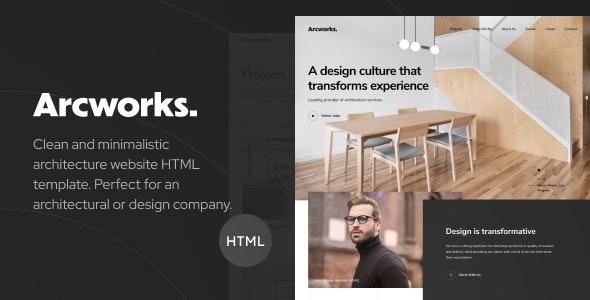 Arcworks Architecture Interior Design Portfolio Html Template By Dymix Themes,Modern Tri Fold Brochure Design Ideas