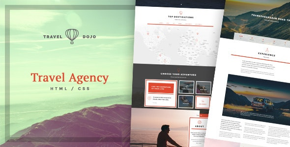 Travel Dojo - Agency Tours HTML/CSS - Travel Retail