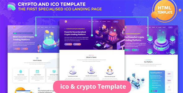 Tokenzero - ICO and Cryptocurrency Template - Technology Landing Pages