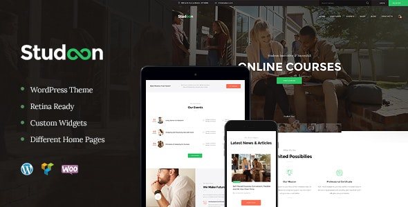 Studeon | An Education Center & Training Courses WordPress Theme - Education WordPress