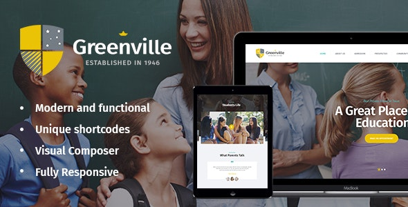 Greenville | A Private School & University Education WordPress Theme - Education WordPress