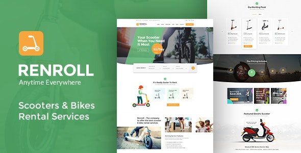 Renroll - Scooter Rental PSD - Business Corporate