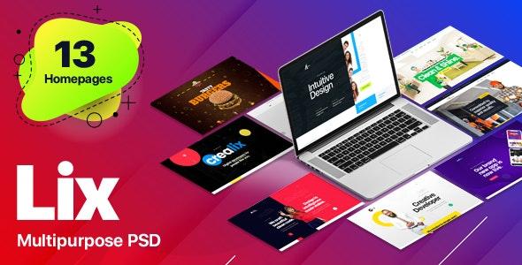 Lix - Multipurpose PSD Template - Creative Photoshop