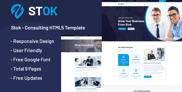 Stok - Multipurpose Consulting HTML5 Template - Business Corporate