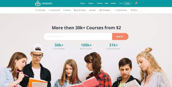 LMSGURU – LMS Education PSD Template