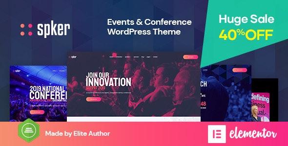 Spker - Conference & Event WordPress Theme - Events Entertainment