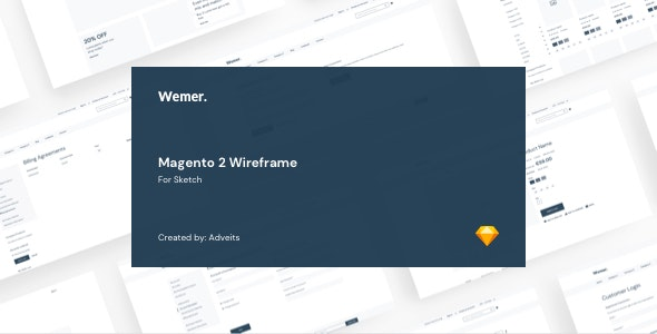 Wemer - Magento 2 Wireframe for Sketch - Sketch Templates