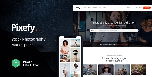 Pixefy | Stock Photography Marketplace Theme - WooCommerce eCommerce