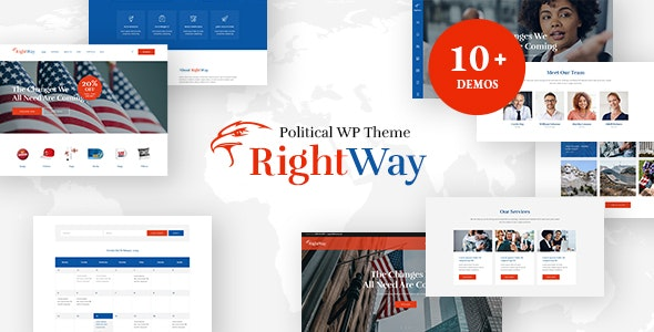 Right Way | Election Campaign and Political Candidate WordPress Theme - Political Nonprofit
