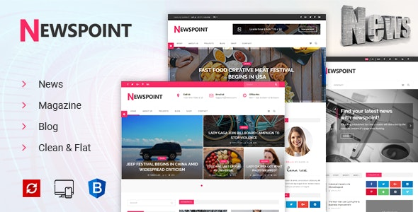 Newspoint - News, Magazine & Blogging HTML Template - Business Corporate