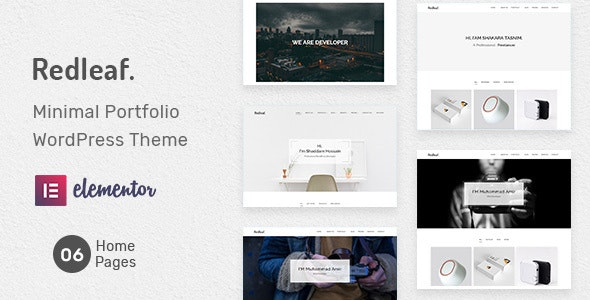 Redleaf - Minimal Portfolio WordPress Theme - Portfolio Creative