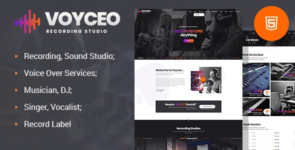 Voyceo - Recording Studio HTML Template by websmirno