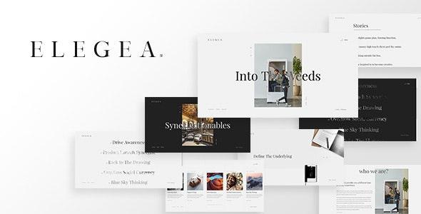Elegea - Multi-Concept WordPress Theme - Creative WordPress