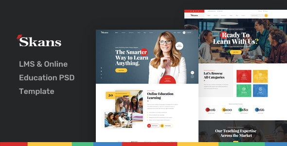Skans - LMS & Online Education PSD Template - Corporate PSD Templates
