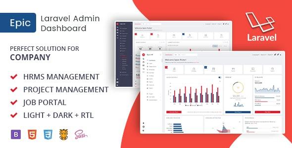 Epic Laravel - HR Management Admin Template - Admin Templates Site Templates