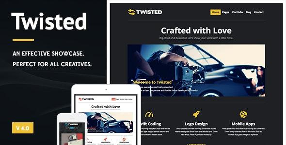 Twisted - Showcase WordPress Theme - Creative WordPress
