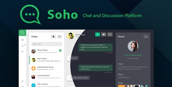 Soho - Chat and Discussion Platform HTML Template - Admin Templates Site Templates