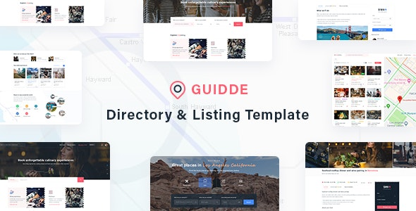 Guidde - Directory & Listing Template - Corporate Photoshop