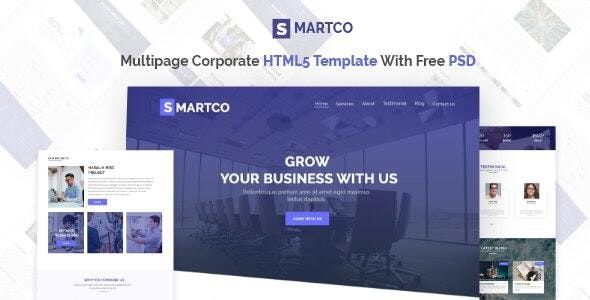 SMARTCO - Multipage Corporate HTML5 Template With PSD - Corporate Site Templates